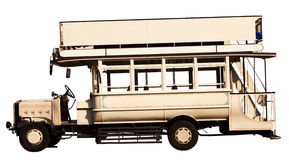 Old open topped bus. A very old open topped bus Stock Image