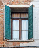 Old open window Stock Images