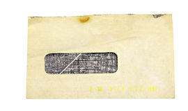 Old open window envelope Stock Photography