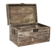 Old open wooden chest Royalty Free Stock Photo