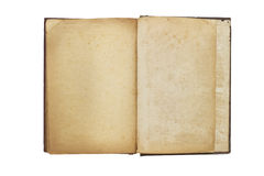 Old opened book with blank pages Royalty Free Stock Photo