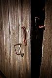 Old opened door Stock Photo