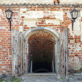 Old opened dungeon doors Royalty Free Stock Images