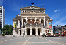 Old Opera (Alte oper) in Frankfurt. Old Opera house in Frankfurt. One of the most famous place in Frankfurt, Germany. Photo taken 29th May 2011 Stock Photo