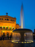 The Old Opera, Alte Oper, in Frankfurt, Germany, at sunset. stock photography