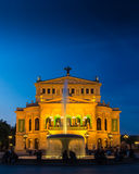 The Old Opera, Alte Oper, in Frankfurt, Germany, at sunset. Royalty Free Stock Photos