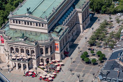 Old opera (Alte Oper) Frankfurt am Main Germany-aerial view royalty free stock photography