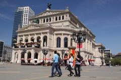 Old opera in Frankfurt Stock Photo