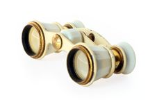 Old opera glasses Stock Photo