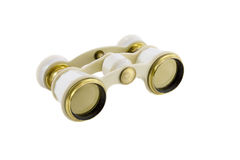 Old opera glasses. Isolated over white background Royalty Free Stock Photo