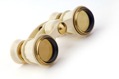 Old opera glasses on a white Stock Image