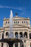 Old opera house with fountain in Frankfurt am Main Hesse Germany Royalty Free Stock Photo