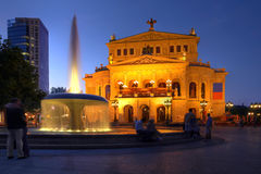Old Opera House in Frankfurt, Germany Royalty Free Stock Photo