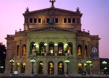 Old Opera House of Frankfurt, Germany stock image