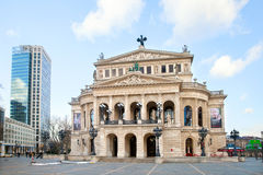 The Old opera house in Frankfurt Stock Photography