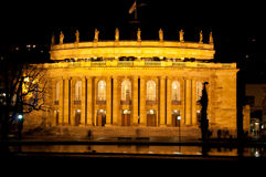 The old opera house in Stuttgart at night Stock Photos