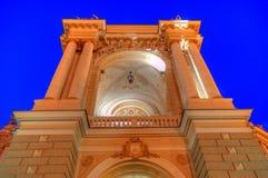 Old Opera Theatre Building in Odessa Ukraine night Stock Photo