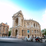 Old Opera Theatre Building in Odessa Ukraine night Stock Photography