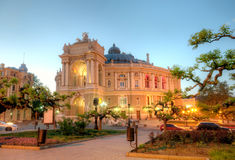 Old Opera Theatre Building in Odessa Ukraine night Royalty Free Stock Photos