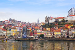 Old Oporto on Douro bank, Portugal Stock Images