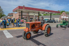 Old Orange Allis-Chalmers tractor in Pella, Iowa. Stock Photography
