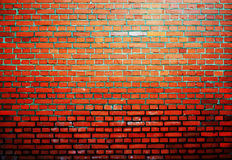 Old orange brick background wall Royalty Free Stock Images