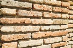 Orange brick wall close up. Old orange brick wall close up Stock Image