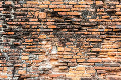 Old orange brick wall Stock Photos