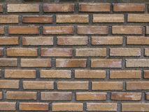 Old orange brick wall. Royalty Free Stock Photos