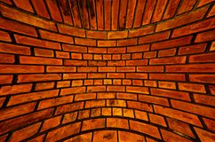 Old orange brick wall texture blast out Royalty Free Stock Photography