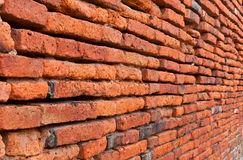 Old orange bricks wall Stock Photo