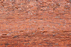 Old orange bricks wall Royalty Free Stock Image