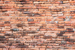 Old orange bricks wall Stock Image