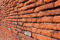 Old orange bricks wall Royalty Free Stock Photo