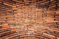 Old orange brown brick wall Stock Photo