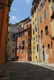 Old orange buildings of Grasse, France Stock Photography