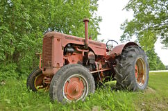 Old orange Case tractor Royalty Free Stock Images