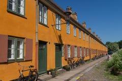 Old charming row houses in Copenhagen, Denmark Royalty Free Stock Photo