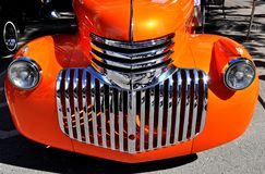 Old orange chevrolet Stock Photography