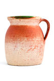 Old orange clay jar Stock Photography