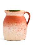 Old orange clay jar Stock Photography