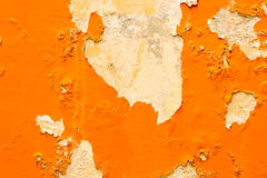 Old orange concrete wall use as background Stock Images