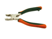 Old orange flat-nose plier Stock Photography