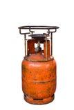 Old orange gas stove, isolated on white background Royalty Free Stock Photos