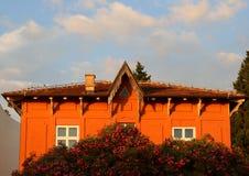 Old orange house Royalty Free Stock Photography