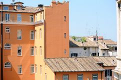 Old orange house in Rome royalty free stock images