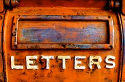 Old Metal Letter Box royalty free stock photos