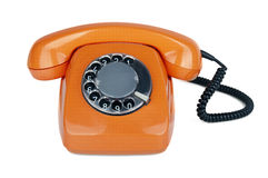 An old orange phone Stock Photo