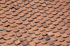 Old orange roof tiles. Detial view of a old dutch roof Stock Images