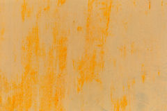 Old orange rusty iron background. Stock Photo